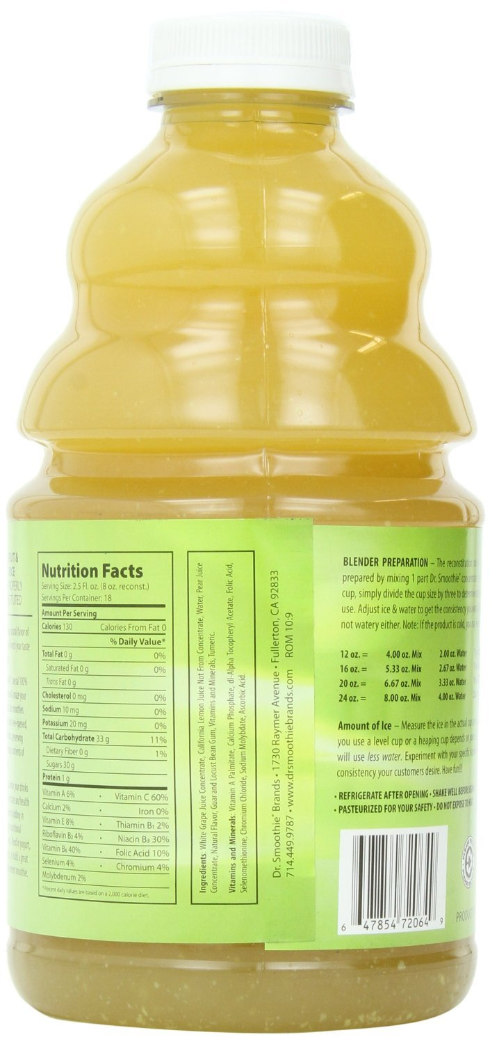 Dr. Smoothie Lemon-ade 100% Crushed Fruit Smoothie Concentrate 46oz. 3 pack