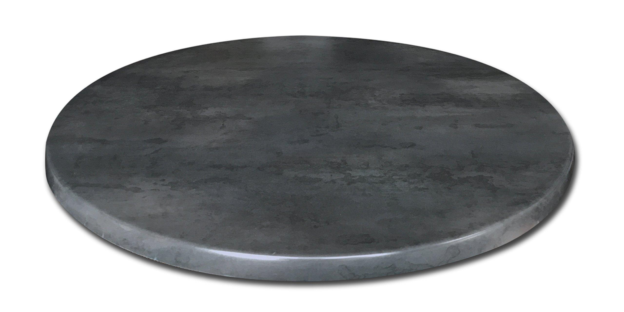 EnduroTop 36'' Diameter Black Steel, Indoor/Outdoor Table Top