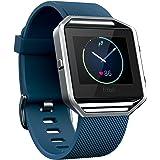 Fitbit Blaze Smart Fitness Watch, Blue, Large (Renewed)