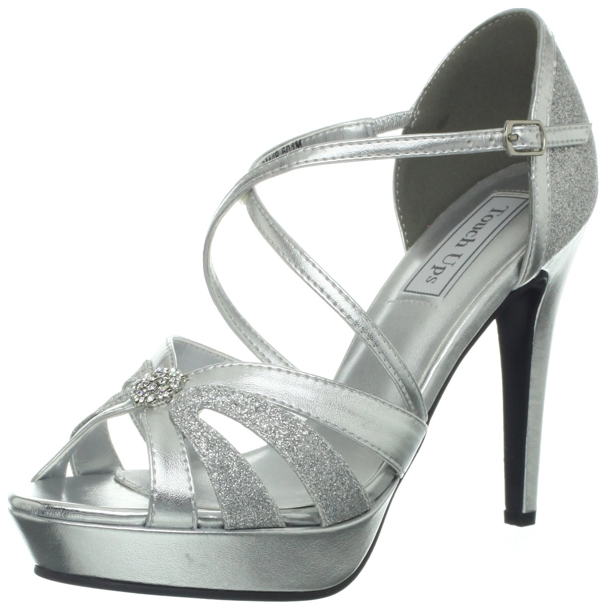 Touch Ups Women's Stella Sandal B00CQI0I4W 9 B(M) US|Silver Metallic