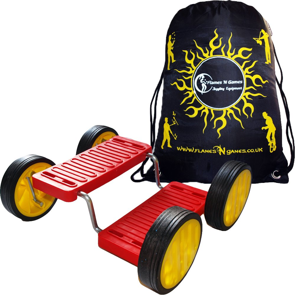 Pedal Go (aka Step Fun) - Red + Flames N Games Travel Bag.