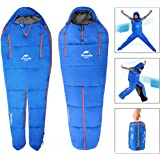 OUTERDO Camping Sleeping Bag Sleeping Bag Lightweight and Waterproof with a Portable Compression Sack,Great for Backpacking and Outdoor Indoor Activities