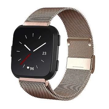 KADES - Correa de Reloj Compatible con Fitbit Versa 2, Correa de ...