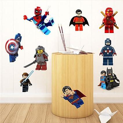 Fangeplus DIY Removable Lego Ninjago Kal Jay Cole Zane Lloyd Art Mural Vinyl Waterproof Wall Stickers
