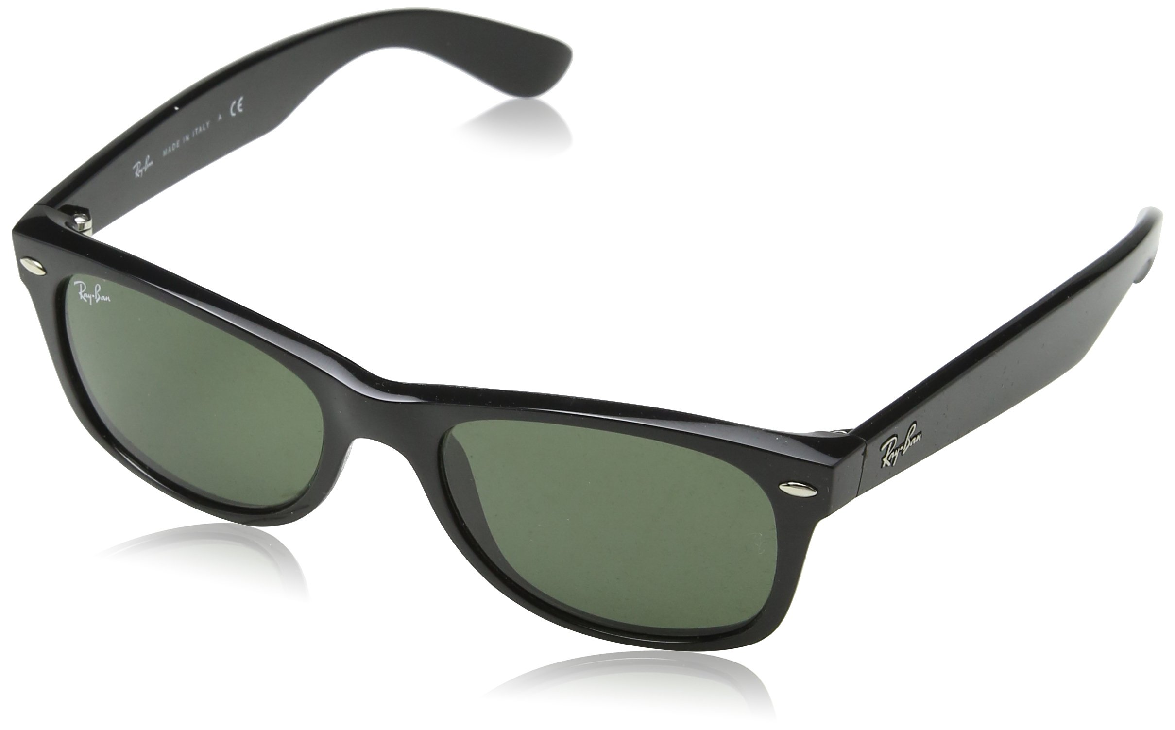 bee40ac65b Galleon - Ray-Ban Sunglasses - RB2132 Wayfarer   Frame  Top Black On Transparent  Lens  Green Polarized (55mm)