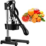 Excelvan Hand Press Citrus Commercial Juicer Pro Manual Fruit Fresh Squeeze with Stainless Steel Funnel Black