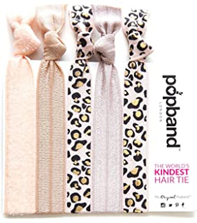 Popband Printed Ponytail Holder Hair Bands/Ties   Wild Thing, 5 Pack