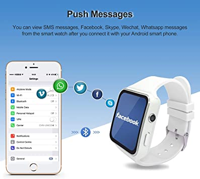 SEPVER Smart Watch SN07 Reloj Inteligente Desbloqueado teléfono Celular con Ranura para Tarjeta SIM para Samsung LG Sony HTC Huawei Google Xiaomi Android teléfonos Inteligentes (Negro): Amazon.es: Electrónica