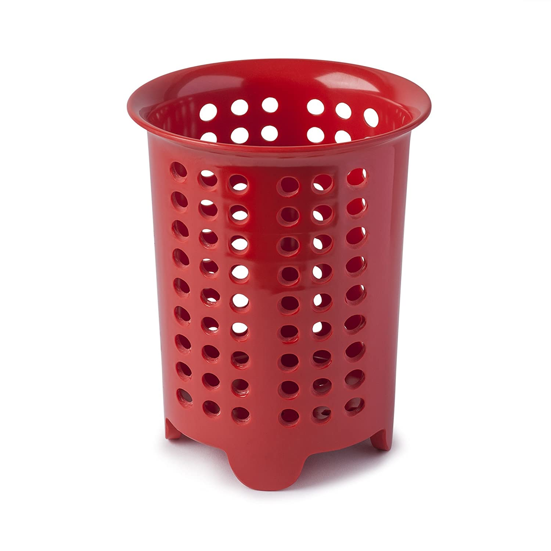 Rojo melamina 14/x 14/x 17/cm Zeal escurridor para Cubiertos//para Utensilios Pot