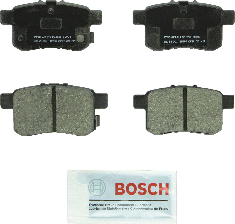 Bosch BC1336 QuietCast Premium Ceramic Disc Brake Pad Set For 2009-2012 Acura TSX and 2008-2010 Honda Accord; Rear
