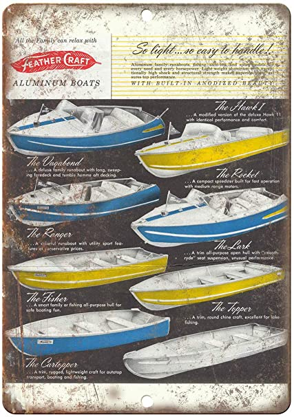 Amazon com: Feather Craft Vintage Boat Ad 12