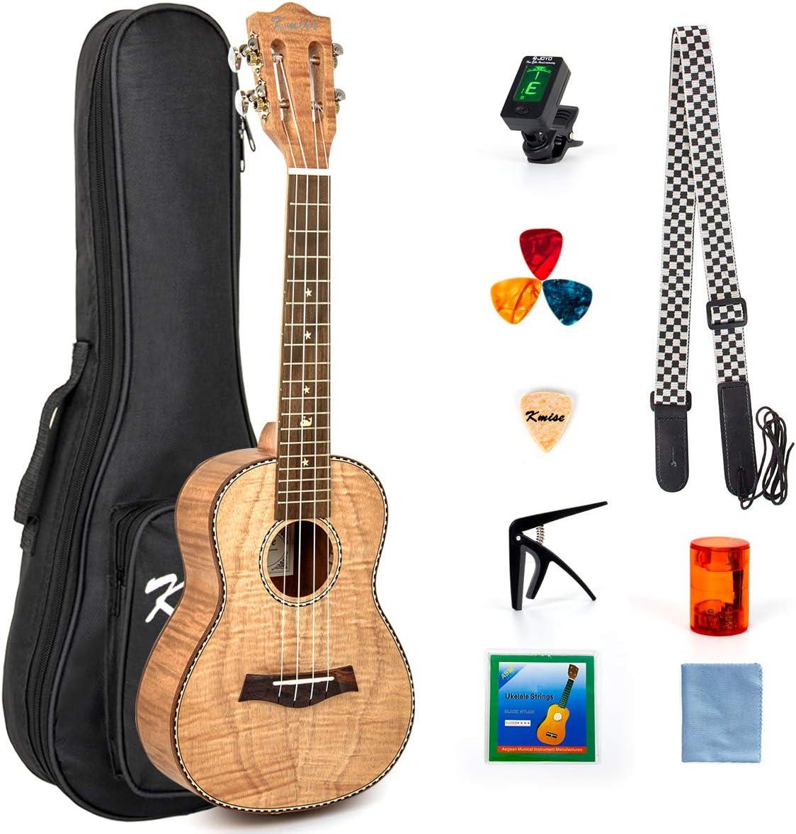 Kmise Tenor Ukulele Zebrawood Ukelele Ukele Uke for Beginner Adult Kid 26 inch 4 String Hawaii Guitar