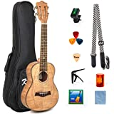 Concert Ukulele Kit 23 Inch Ukelele Uke Hawaii Guitar for Beginner and Professional Player From Kmise