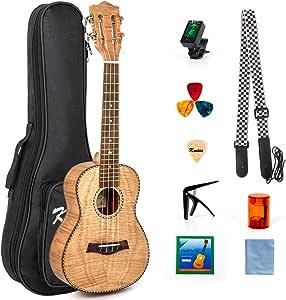 Concert Ukulele Kit 23 Inch Ukelele Uke Hawaii Guitar for Beginner and Professional Player From Kmise