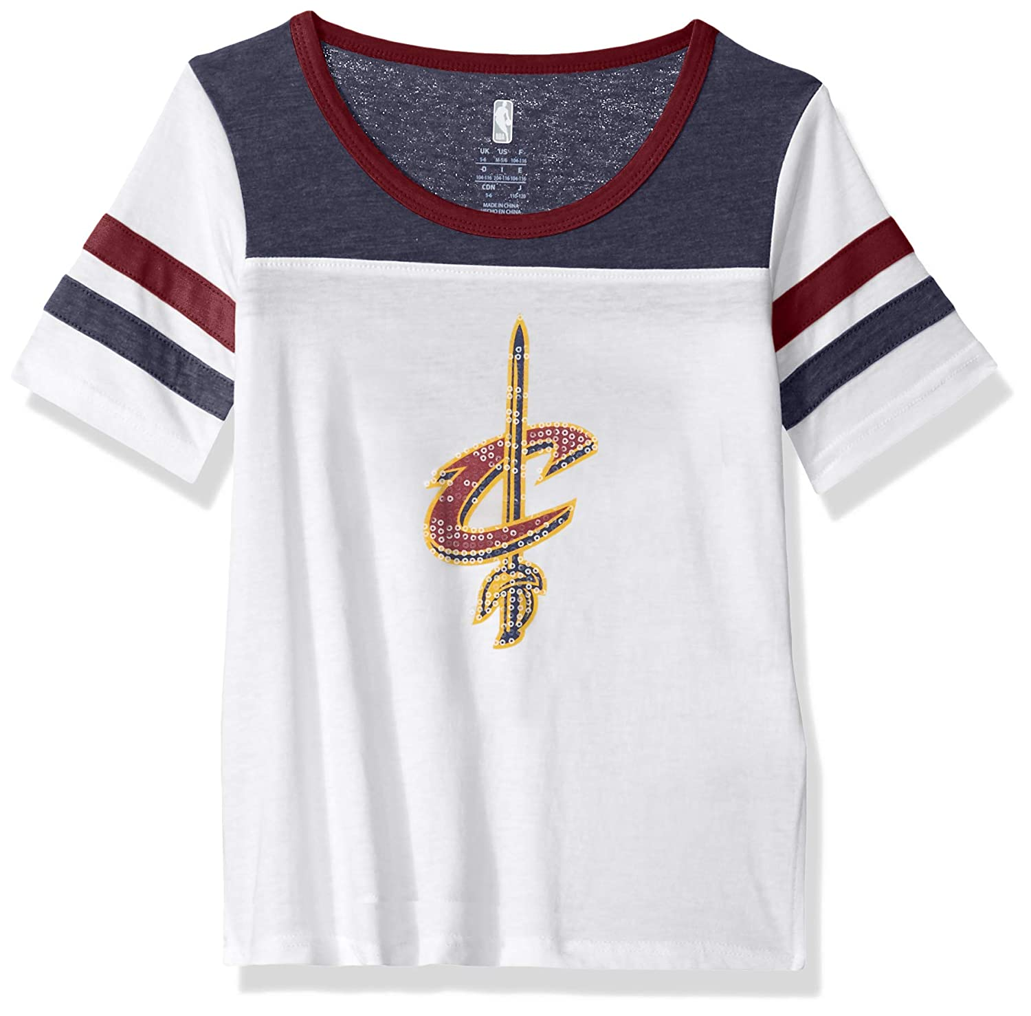 Youth Small NBA by Outerstuff NBA Kids /& Youth Girls Cleveland Cavaliers Point Guard Short Sleeve Tee White 7-8