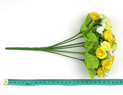 Amazon Raylinedo 1 Pcs Of 21 Heads Roses Artificial Flowers