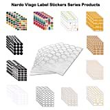 Nardo Visgo 108-Pack Colored Labels Stickers in