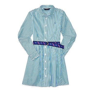 0d1231e2fada Amazon.com  Ralph Lauren Bengal Striped Fit   Flare Shirtdress ...