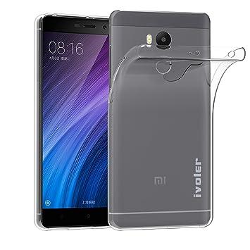 ivoler Funda Carcasa Gel Transparente para Xiaomi Redmi 4 Prime/Xiaomi Redmi 4 Pro, Ultra Fina 0,33mm, Silicona TPU de Alta Resistencia y Flexibilidad