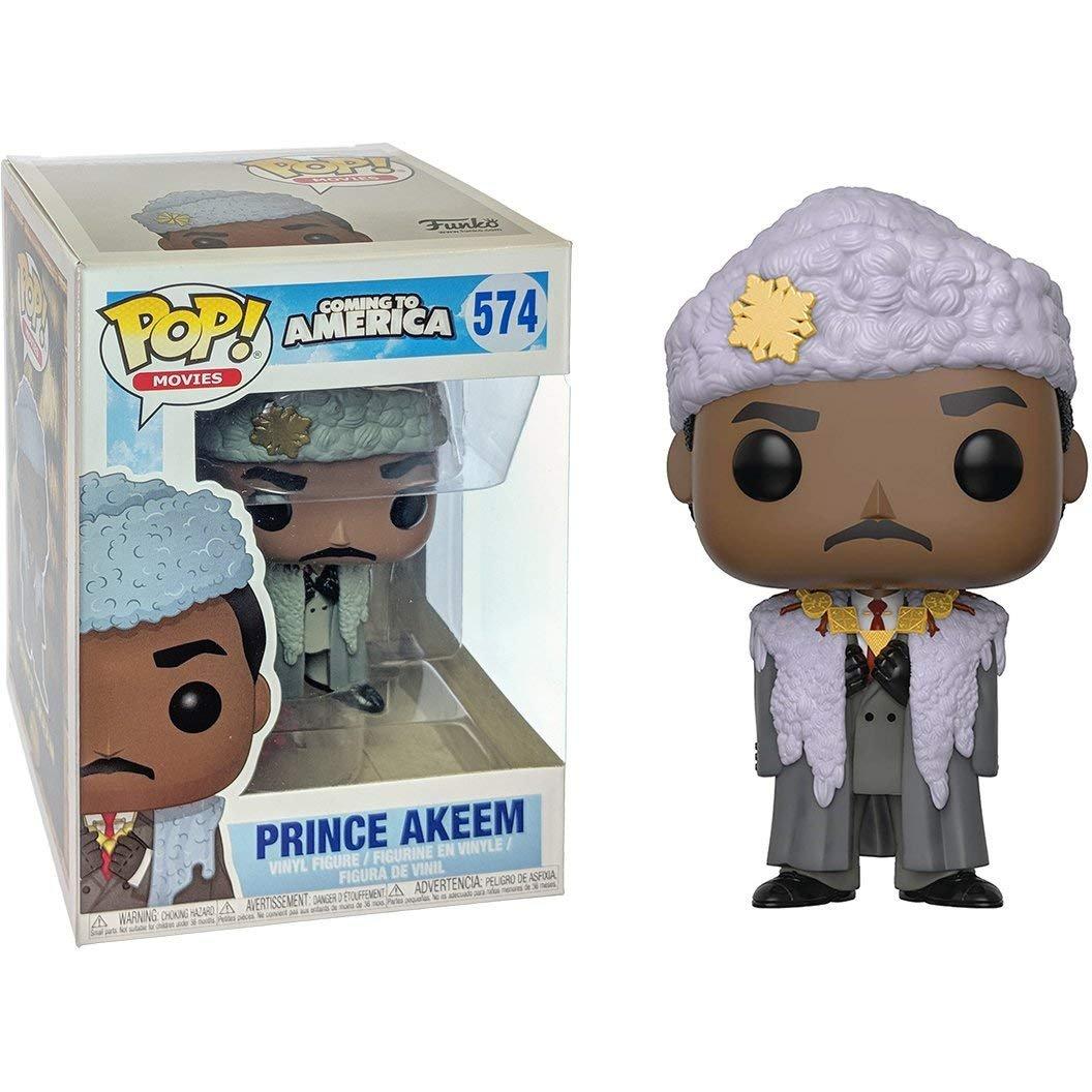 b49351f3041 Amazon.com  Funko Pop! Movies  Coming to America - Prince Akeem Vinyl  Figure (Bundled with Pop Box Protector Case)  Toys   Games