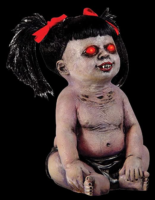 Crying Demonica Undead Zombie bebé niña Demon muñeca Horror prop ...