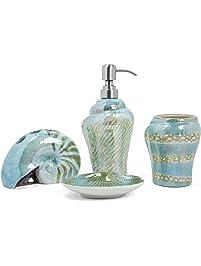 Shop bathroom accessory sets for Sea green bathroom accessories