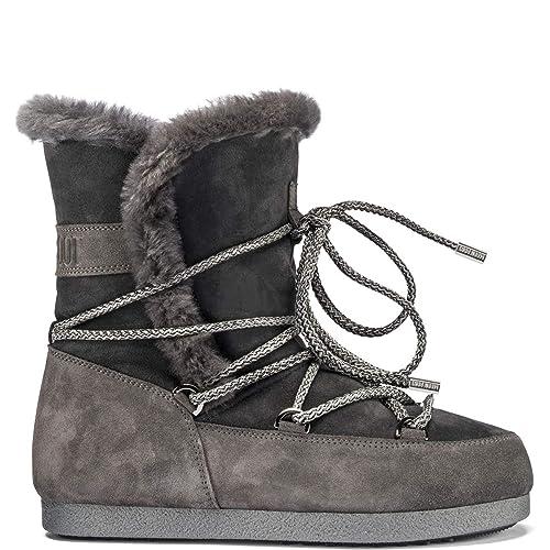 18b694e53686 Womens Tecnica Moon Boot Far Side High Shearling Winter Faux Fur Boots   Amazon.co.uk  Shoes   Bags