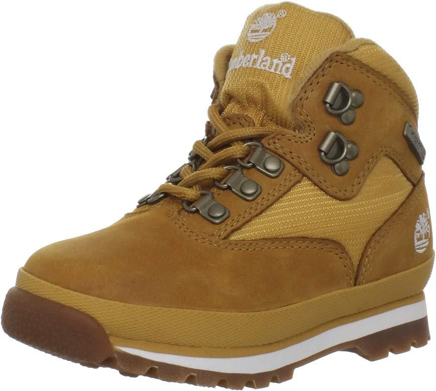 electrodo Original casado  Timberland Toddler EURO Hiker Mid Fabric and Leather Shoe, 4 M UK ...