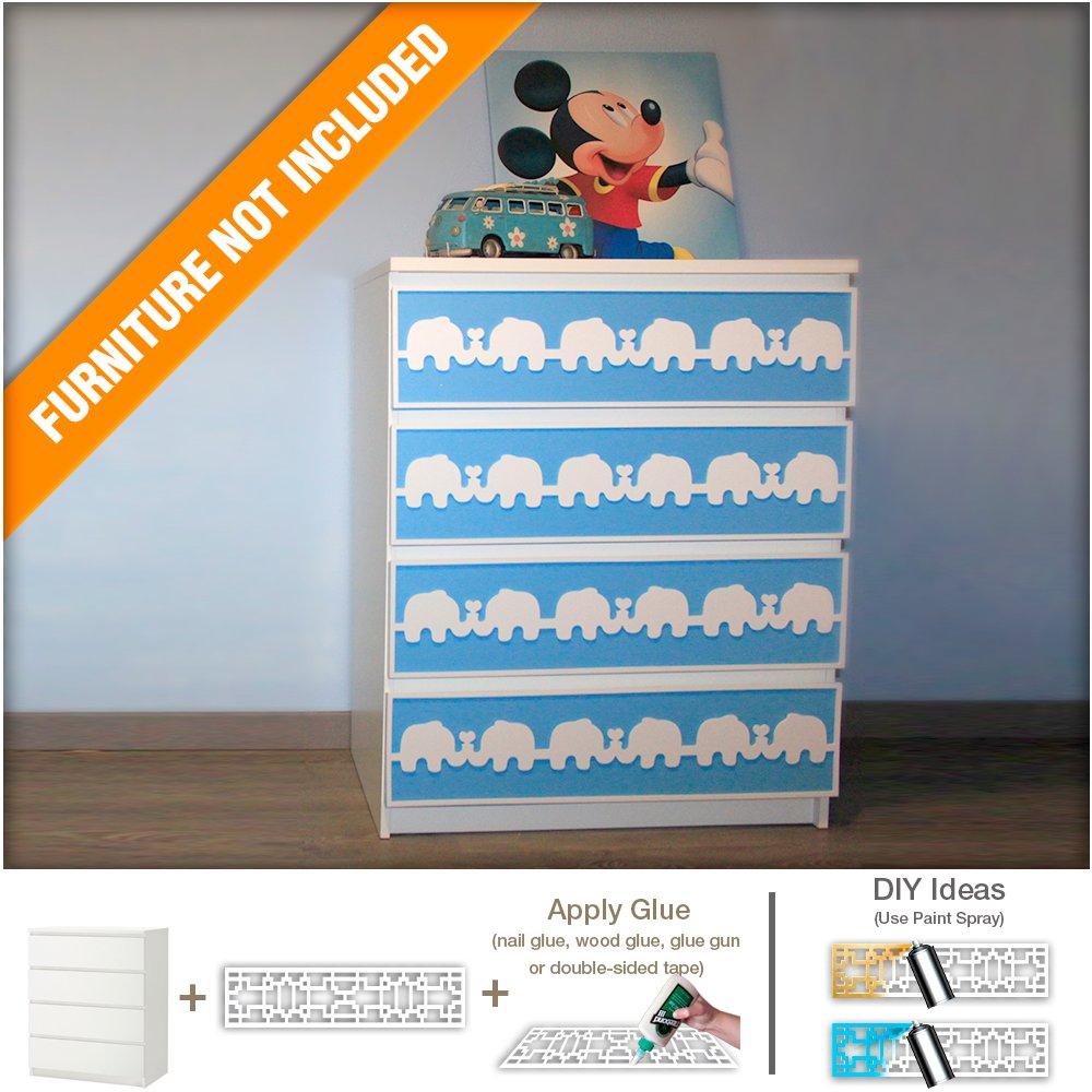 Elephant Nursery Furniture Appliques