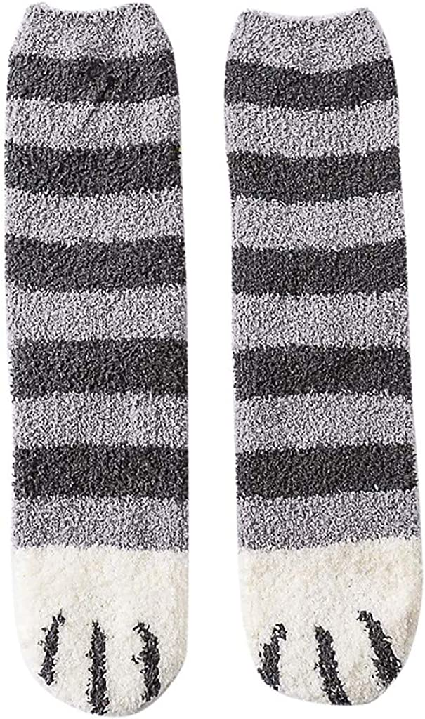 Chaud Doux Chaussette Automne Hiver Tissu Doux Hommes Coton Chaussettes à Rayures Accessoires