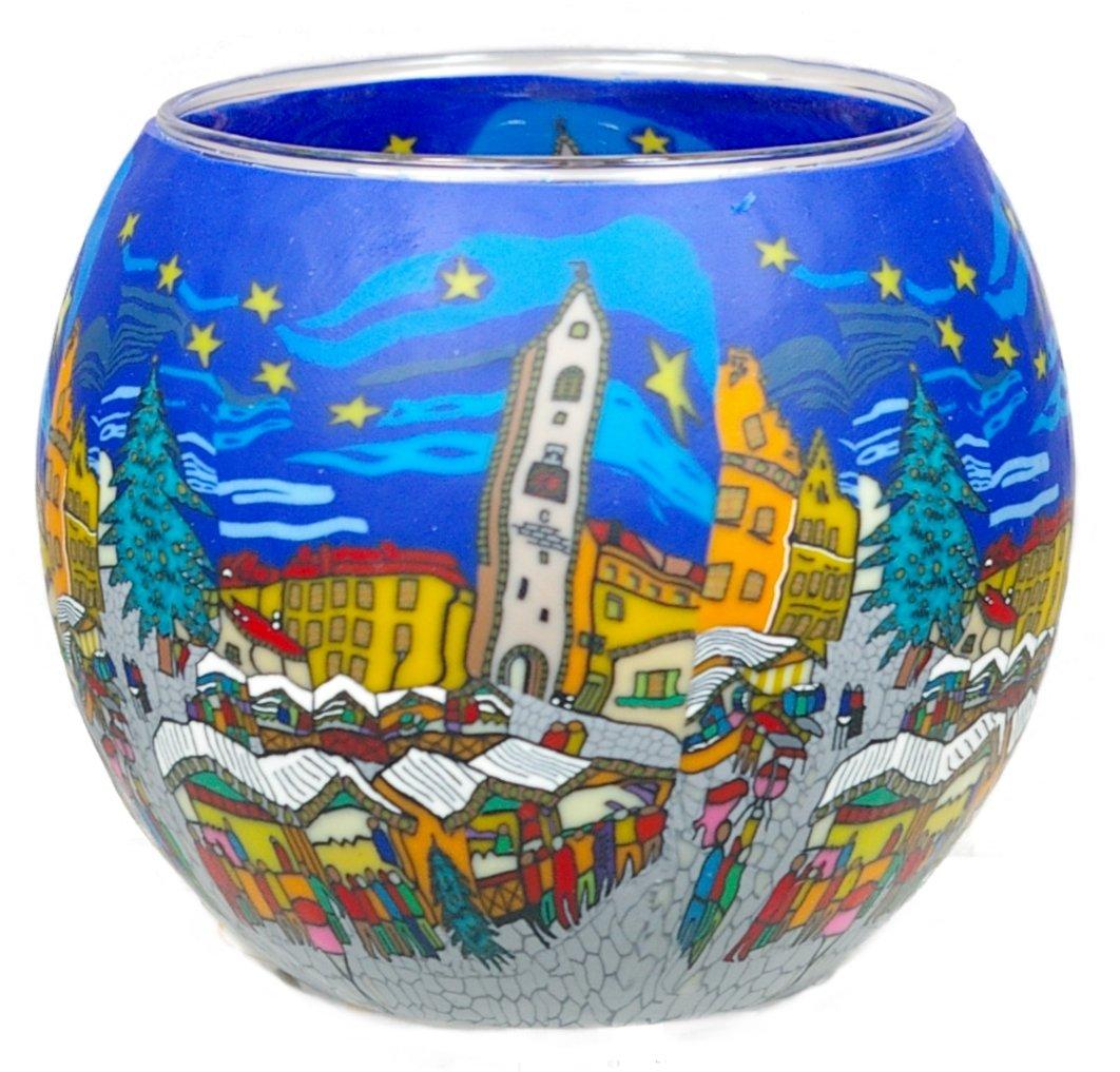 Kerzenfarm Leuchtgläser, Glas, bunt, 11 x 11 x 9 cm