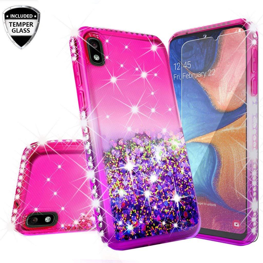 Funda + Vidrio Para Samsung Galaxy A10 Glitter Galaxy Wireless [7wjk8lg5]