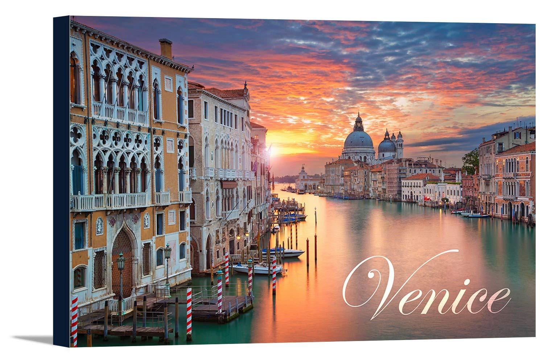 ヴェネツィア、イタリア – Sunrise 24 x 16 Gallery Canvas LANT-3P-SC-74412-16x24 B01DZ25FYA  24 x 16 Gallery Canvas
