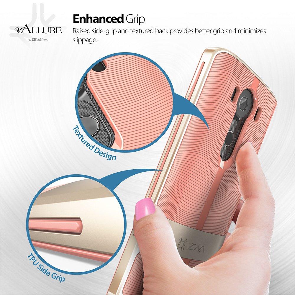 LG V10 Case, Vena [vAllure] Wave Texture [Bumper