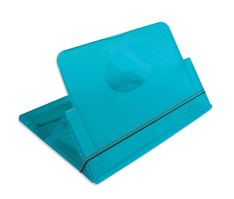 Atril para libros, ordenadores portátiles y tablets, color azul transparente: Amazon.es: Electrónica