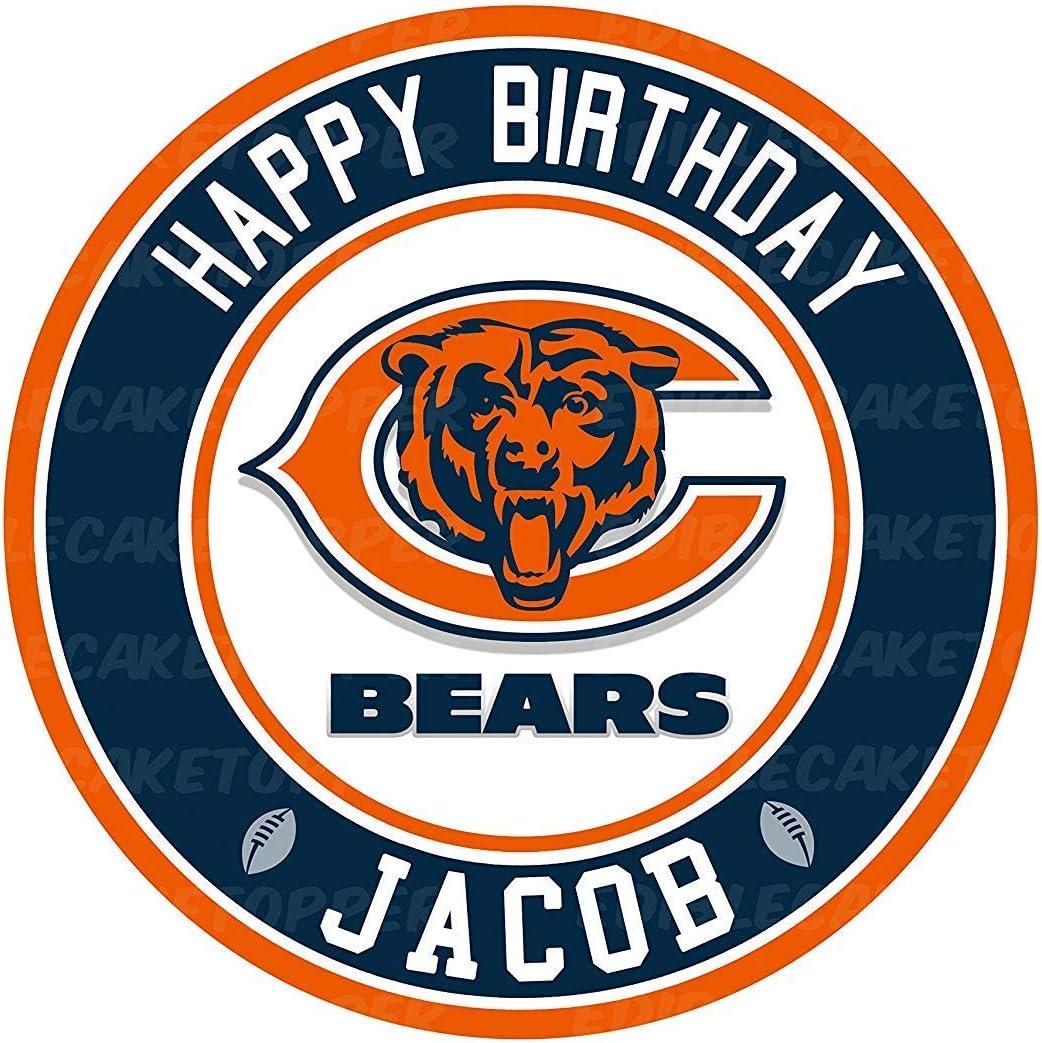 Amazing Amazon Com Chicago Bears Edible Cake Topper Personalized Birthday Funny Birthday Cards Online Fluifree Goldxyz