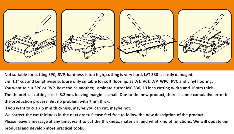13-inch LVT/VCT/LVP/WPC/PVC/Vinyl Flooring Cutter LVT-330, Better than 12-In Vinyl Tile Cutter by MANTISTOL (Image #6)