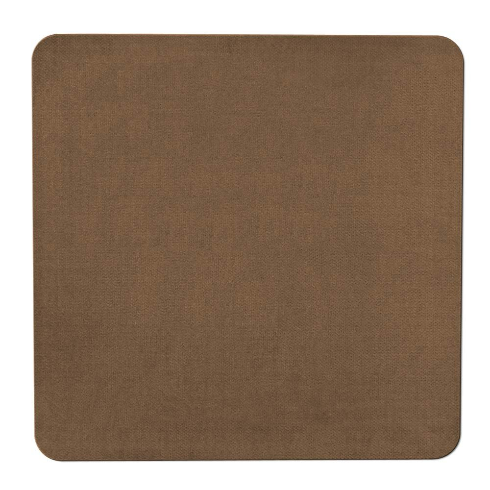 House, Home and More Skid-resistant Carpet Indoor Area Rug Floor Mat - Toffee Brown - 3' X 3' - Many Other Sizes to Choose From