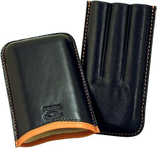 3 Finger Churchill Size TAN Leather Cigar Case