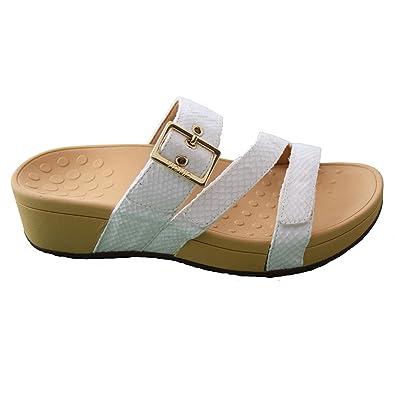 0b0cad0214ad Vionic Rio Ladies Mule Sandal 7 White Snake  Amazon.co.uk  Shoes   Bags