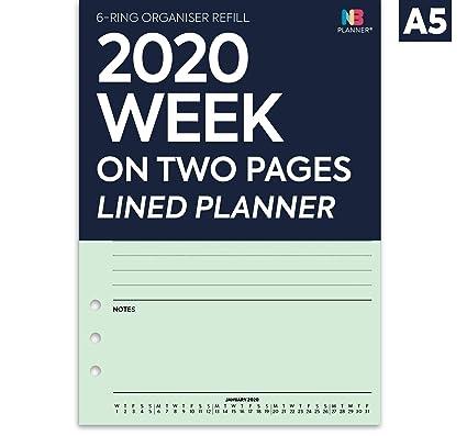 NBplanner® 2020 - Agenda de dos páginas con forro, con ...