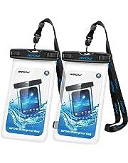 Mpow Funda Móvil Impermeable 2 Unidades,Funda Bolsa Impermeable IPX8 para Móvil Universal de 6 Pulgadas para iPhone XS/XS MAX/X/8/8 Plus/7/7 Plus,Huawei, BQ Aquaris,Sony,Galaxy S9/S8/S7