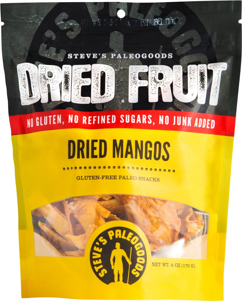 Steve's Paleogoods, Dried Fruit Mangos, 6 oz (Pack of 3) by Steve's PaleoGoods (Image #1)