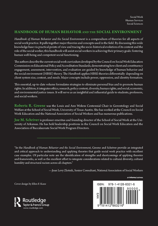 Handbook Of Human Behavior And The Social Environment Roberta R