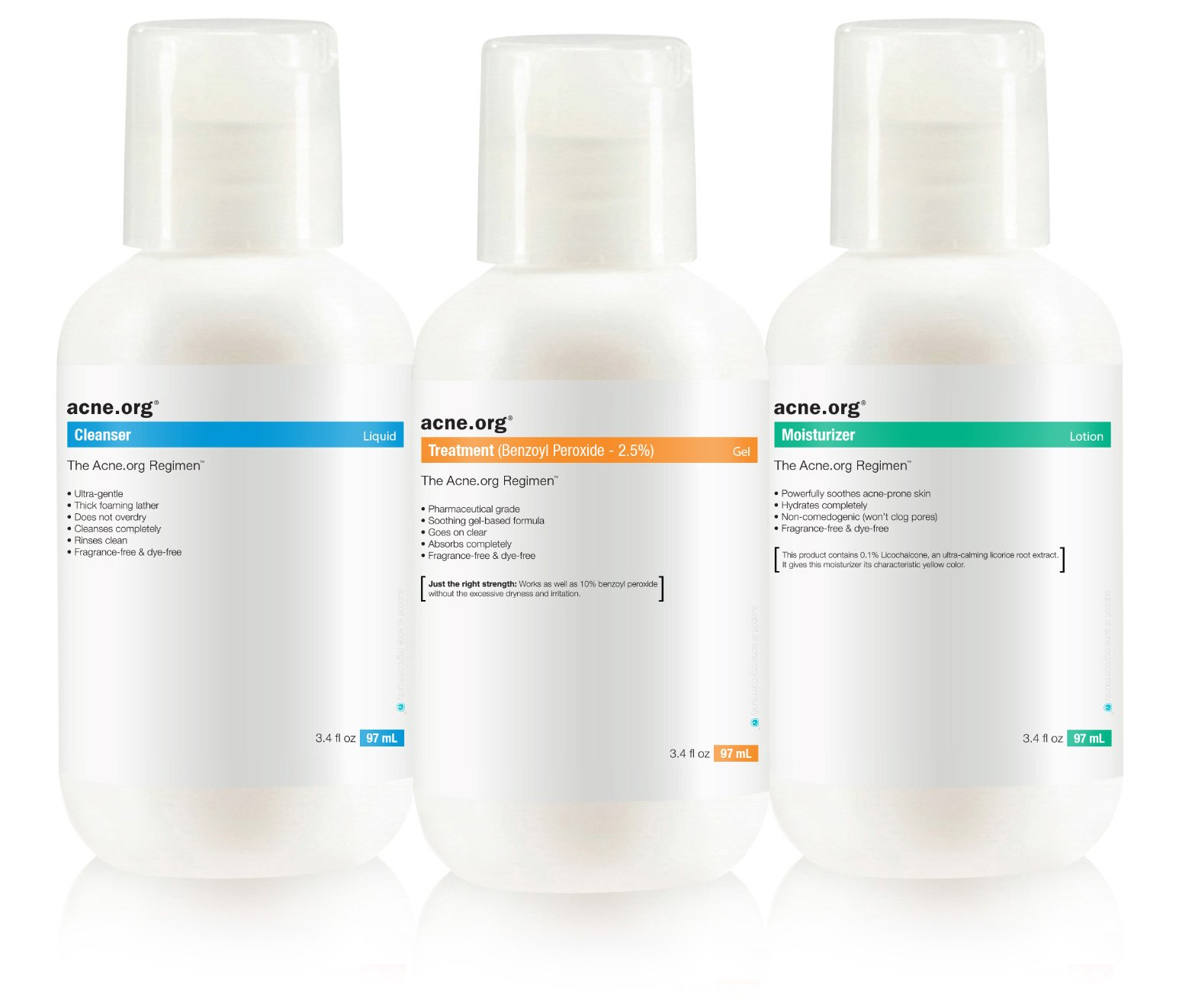 The Acne.org Regimen: Complete Treatment Kit (Travel Size)