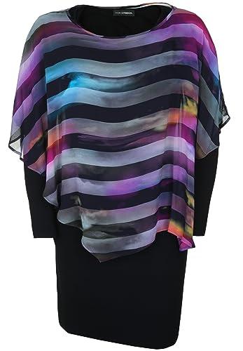 Doris Streich -  Vestito  - fasciante - Maniche lunghe  - Donna multicolore 46