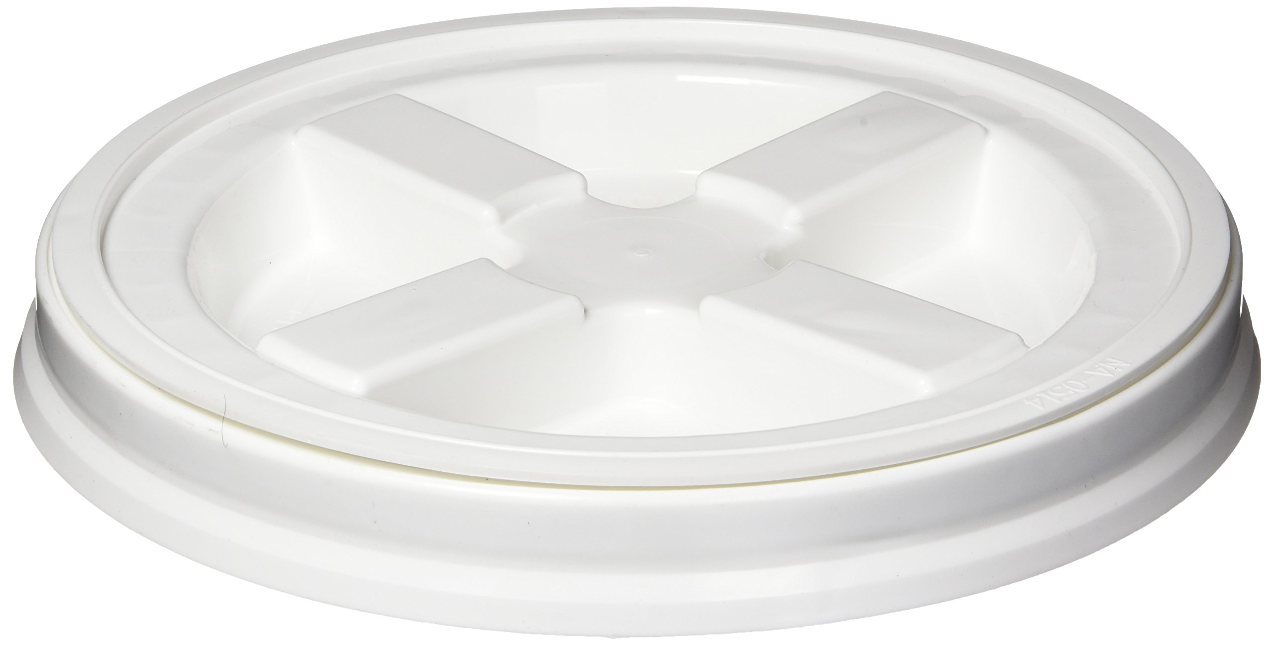 Gamma Vittles Vault Seal Lid fits 3.5 - 7 Gallon bucket, White by Gamma2