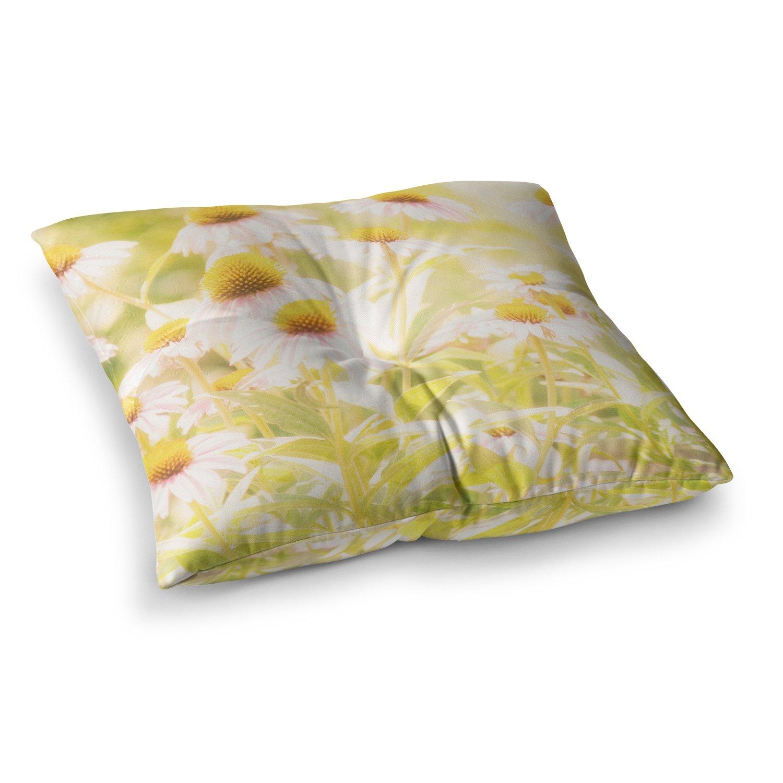 26 x 26 Square Floor Pillow Kess InHouse Iris Lehnhardt Blues Gray