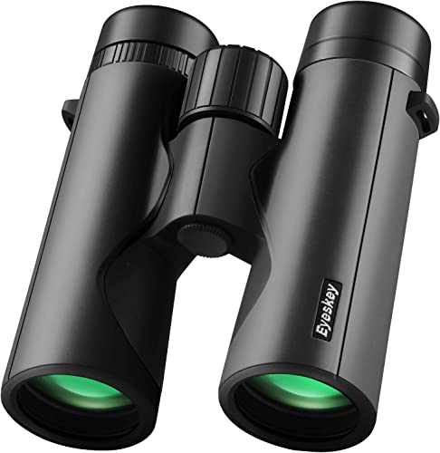 Eyeskey Bird Watching Binoculars for Adults Compact Waterproof Fog Proof Binoculars for Outdoor Games Hunting Clear Low-Light Vision Wide Field of View Professional Sports Optics Black-8X42