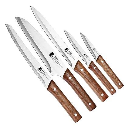 Compra Bergner Q0623 Set de 5 Cuchillos de Acero Inoxidable ...